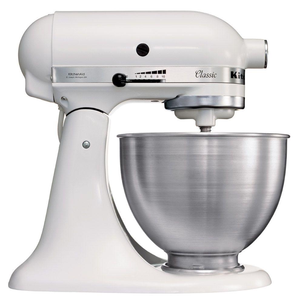 KitchenAid Classic (5K45SSEWH), White миксер