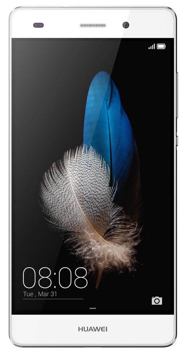 Huawei P8 Lite, White51095157Huawei Р8 Lite продолжает традицию дизайна смартфонов серии Р. Тонкие рамки экрана 7.7 мм, графический рисунок на задней поверхности и внимание к каждой детали - это делает Р8 Lite произведением дизайнерского искусства. Основная камера 13 МП обладает новыми возможностями сьёмки и подарит пользователям яркие панорамные и пейзажные фотографии. Фронтальная камера Р8 Lite подчеркивает красоту каждого снимка благодаря режиму Украшение и широким возможностям настройки. Камера распознаёт лицо пользователя и предлагает варианты обработки фотографии, которые сделают селфи ещё более привлекательным. Съёмка в условиях плохой освещённости позволит создавать удивительно яркие и контрастные кадры в тёмное время суток. Даже снятые ночью фотографии отличаются яркими деталями и насыщенными цветами. Р8 Lite оснащён 8-ядерным процессором Kirin 620, поддерживающим сьёмку HDR-фото и видео формата HD 1080р. Процессор поддерживает высокоскоростное...