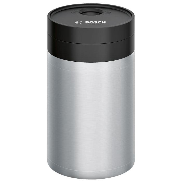 Bosch 576165 контейнер для молока с крышкой Freshlock 0,5 л576165Bosch 576165 - контейнер для молока для кофемашины, который выполнен из высококачественной нержавеющей стали. Он многие часы сохраняет молоко без потери качества. Контейнер легко размещается на полке двери холодильника, также оснащён специальным клапаном FreshLock, который сохраняет свежий запах молока, не допуская попадания внутрь посторонних запахов из холодильника.