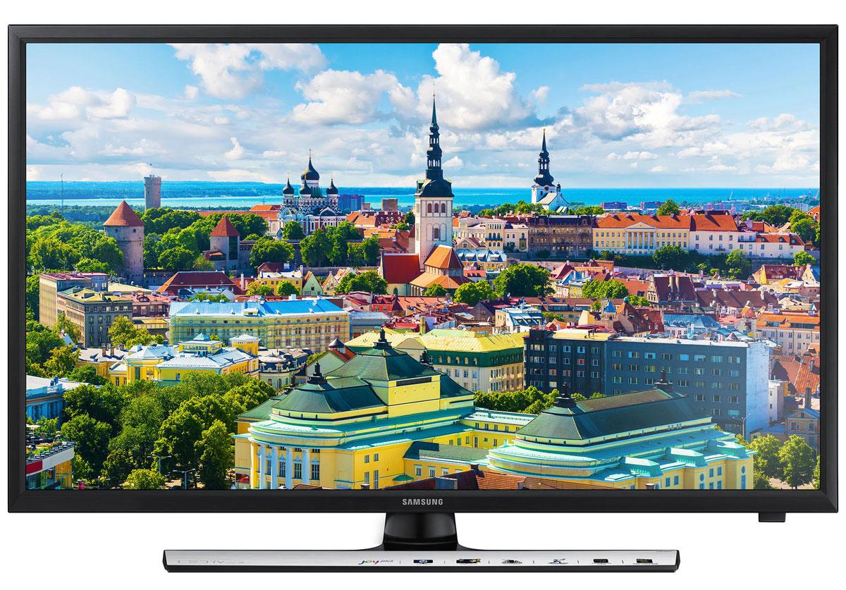 Samsung UE28J4100AKX телевизор28J4100Испытайте новые ощущения и приобщите к ним своих близких. Тонкий LED телевизор серии J4100 разработан для того, чтобы зрители испытали невиданные до сих пор визуальные ощущения. Сегментированная технология затемнения изображения позволяет улучшить проработку деталей в темных и светлых участках экрана, что добавляет глубины и драматичности происходящему на экране. Повышение контрастности изображения позволяет максимально улучшить качество картинки на экране и получить больше удовольствия от просмотра. Ощутите новую реальность в формате Full HD. Великолепное изображение с яркими живыми красками Использование новейшей технологии расширения диапазона цветопередачи Wide Color Enhancer Plus позволяет существенно улучшить качество изображения. Обратите внимание на богатство цветовой палитры, отображаемой на экране благодаря технологии Wide Color Enhancer Plus. HDMI для просмотра мультимедийного контента Разъемы HDMI превращают телевизор в главный элемент...
