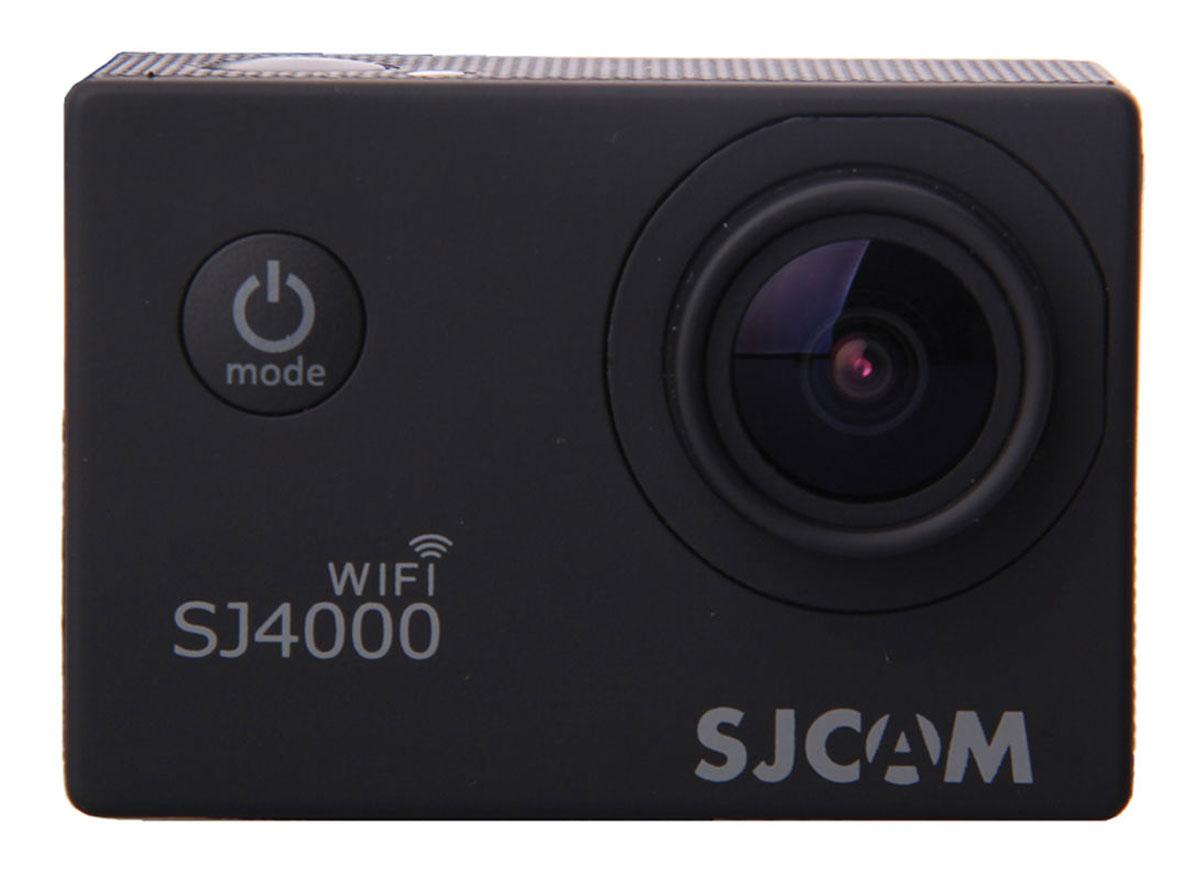 SJCAM SJ4000 Wi-Fi, Black экшн-камера00000044682SJCAM SJ4000 Wi-Fi - это недорогой и качественный аналог GoPro. С ее помощью можно снимать экстремальные события, закрепив камеру в удобном месте. Наличие модуля Wi-Fi позволит управлять съёмкой со смартфона. Вы также можете делать впечатляющие съёмки под водой на глубине до 30 метров благодаря водонепроницаемому боксу в комплекте. Камера оснащена специальным Wi-Fi модулем, который действует на расстоянии 15 метров. Он позволяет транслировать видео в прямом эфире на экран Вашего Android или iOS, управлять съёмкой со смартфона, а также загружать видео с камеры на смартфон с последующей публикацией в Youtube и социальных сетях. Благодаря режиму цейтаоферной съёмки камера SJCAM может сжимать многочасовые события (например, расцветающую розу) до нескольких секунд. Теперь восход солнца после съёмки произойдёт прямо на глазах ваших друзей! SJCAM SJ4000 Wi-Fi может быть использована в качестве видеорегистратора благодаря возможности циклической записи. Для...