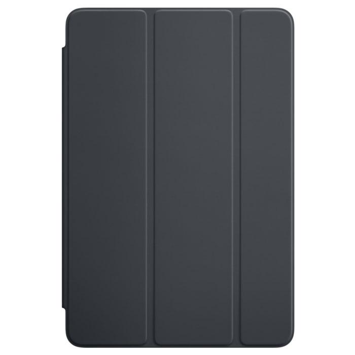 Apple Smart Cover чехол для iPad mini 4, Charcoal GrayMKLV2ZM/AОбложка Apple Smart Cover для iPad mini 4 создана из цельного листа полиуретана, чтобы защищать переднюю поверхность вашего устройства. Smart Cover автоматически выводит iPad из режима сна при открытии и переводит в режим сна при закрытии. Она складывается различными способами, что позволяет использовать её как подставку для чтения, просмотра фильмов, набора текста или звонков FaceTime. Обложка снимается и надевается очень легко - в любой момент.