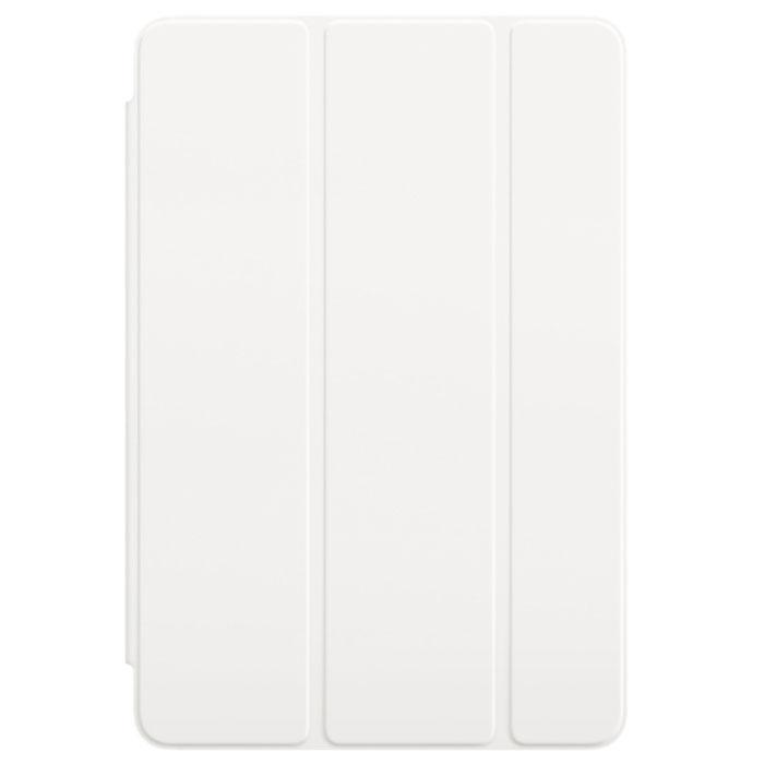 Apple Smart Cover чехол для iPad mini 4, WhiteMKLW2ZM/AОбложка Apple Smart Cover для iPad mini 4 создана из цельного листа полиуретана, чтобы защищать переднюю поверхность вашего устройства. Smart Cover автоматически выводит iPad из режима сна при открытии и переводит в режим сна при закрытии. Она складывается различными способами, что позволяет использовать её как подставку для чтения, просмотра фильмов, набора текста или звонков FaceTime. Обложка снимается и надевается очень легко - в любой момент.