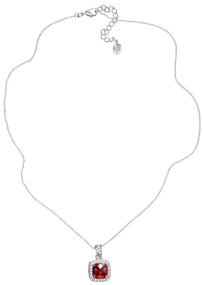 Колье Taya, цвет: серебристый, красный. T-B-4803T-B-4803-NECK-RH.GARNETЭлегантное колье Taya выполнено из бижутерийного сплава с гальваническим покрытием родием. Колье дополнено подвеской, которая оформлена гранатовым цирконом. Колье застегивается на практичный замок-карабин, длина изделия регулируется за счет дополнительных звеньев. Колье Taya выгодно подчеркнет изящество, женственность и красоту своей обладательницы.