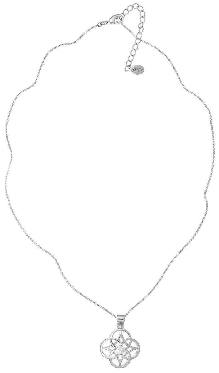Колье Taya, цвет: серебристый. T-B-4739T-B-4739-NECK-RHODIUMВеликолепное колье Taya выполнено из металлического сплава с родиевым и серебряным покрытием. Изделие представляет собой цепочку тонкого плетения с кулоном, украшенным прозрачным цирконом. Колье застегивается при помощи замка-карабина. Длина колье регулируется. Такое колье подойдет как для вечернего образа, так и на каждый день для завершения вашего наряда.