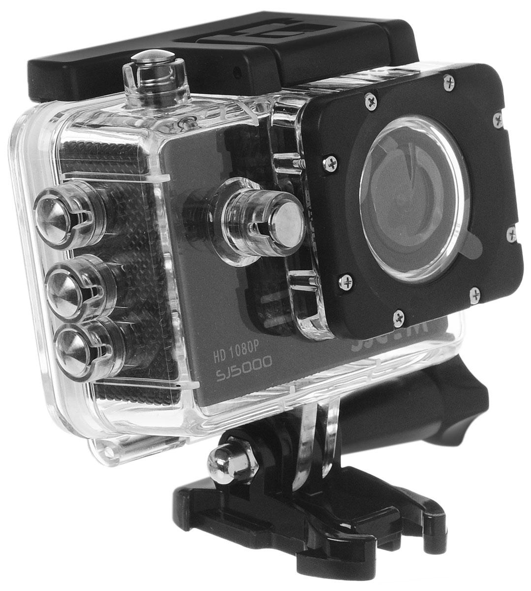 SJCAM SJ5000, Black экшн-камера00000049282SJCAM SJ5000 является продолжением новой линейки экшен камер, которую компания SJCAM представила в декабре 2014 года. Это многофункциональная экшн-камера обладает высоким качеством не только фото и видео съёмки, но и самого материала. Прочная водонепроницаемая конструкция делает её просто незаменимой в экстремальном отдыхе и спорте. Благодаря режиму цейтаоферной съёмки камера может сжимать многочасовые события (например, расцветающую розу) до нескольких секунд. Теперь восход солнца после съёмки произойдёт прямо на глазах ваших друзей! SJCAM SJ5000 может быть использована в качестве видеорегистратора благодаря возможности циклической записи. Для этого разместите её на стекле автомобиля с помощью специального крепления и нажмите на кнопку записи. Данную модель можно использовать и в качестве Full HD веб-камеры. Всё, что необходимо сделать - это подключить SJCAM к компьютеру через кабель USB и запустить Skype. SJCAM SJ5000...