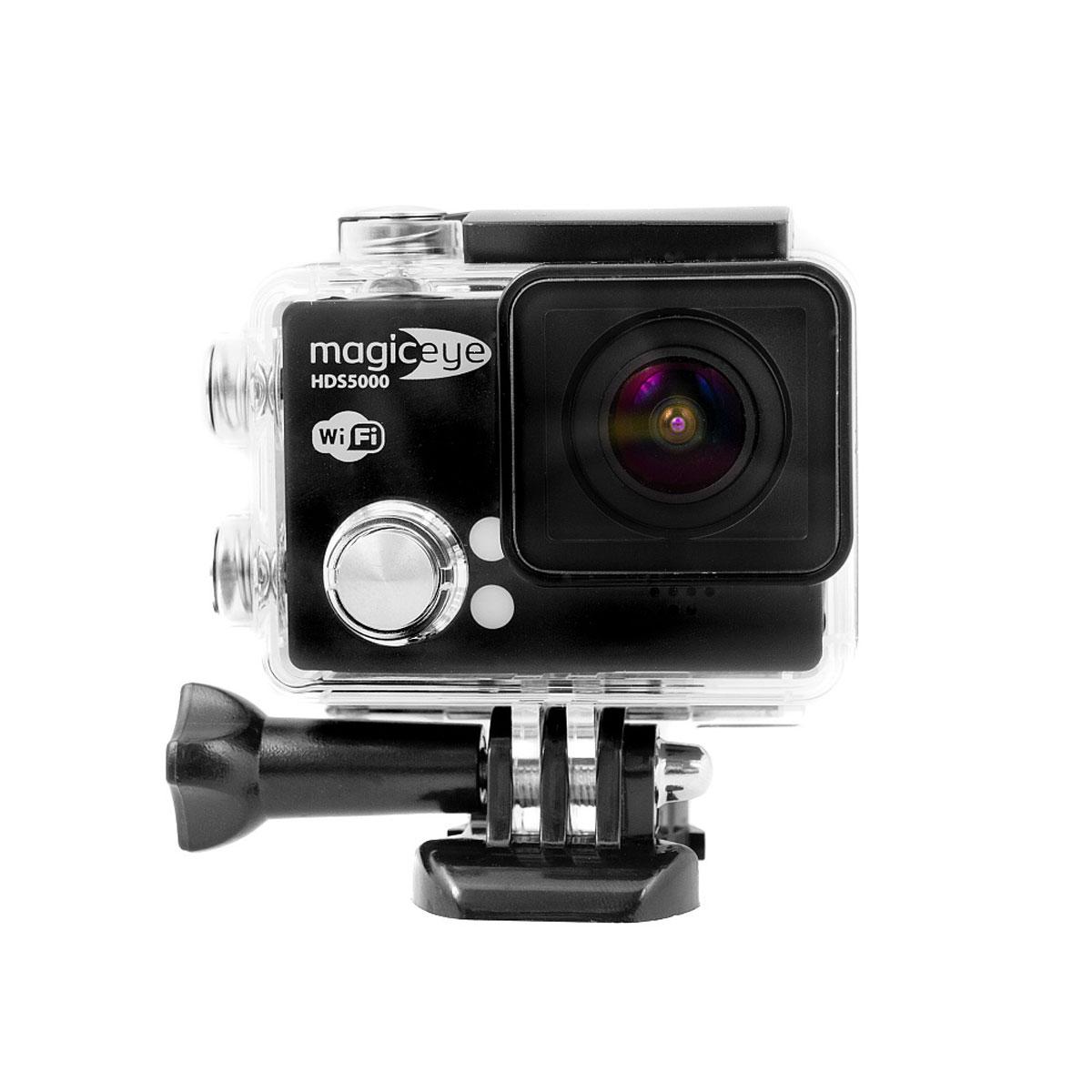 Gmini MagicEye HDS5000, Black экшн-камераAK-10000006Портативная экшн-камера с возможностью записи в формате FullHD 1080p с частотой 60 кадров в секунду, 1.5 дисплеем, управлением съемкой по WiFi и самым полным комплектом поставки. Сенсор и объектив: Сенсор SONY Exmor R IMX206CQC 16 мегапикселей. Широкоугольный объектив с углом обзора 170°, диафрагма F/2.0. WiFi: Удаленное управление съемкой по WiFi с вашего смартфона или планшета под управлением iOS или Android. Экран: 1.5 LCD дисплей для просмотра записанных фрагментов и настроек. Избавит от необходимости иметь дополнительное устройство для просмотра видео. Поможет при настройке положения вашей экшн-камеры.файлов. Комплектация: Самый полный комплект поставки, включающий в себя бокс для подводной съемки, автомобильное крепление и автомобильный адаптер питания, крепления на руль, шлем, пояс и множество самых различных переходников. Продолжительность фрагмента записи: 1 / 3 / 5 минут, непрерывная...