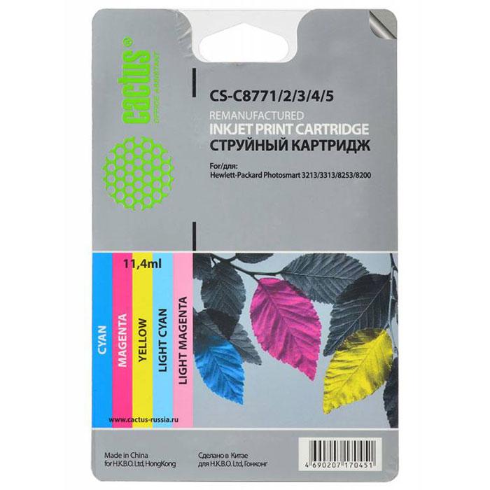 Cactus CS-C8771/2/3/4/5, Color комплект струйных картриджей для HP PhotoSmart 3213/3313/8253/C5183/C6183/C6283CS-C8771/2/3/4/5Каждый, кто пользуется печатающими устройствами знает, что они не обходятся без расходных материалов. Ощутите надежное и профессиональное качество печати с Cactus CS-C8771/2/3/4/5. С этим комплектом картриджей значительно увеличится эффективность работы, так как их ресурса хватит на длительный период. Подходят для HP PhotoSmart 3213/3313/8253/C5183/C6183/C6283