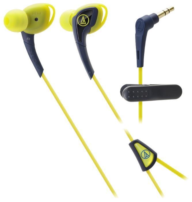 Audio-Technica ATH-SPORT2, Navy Yellow наушникиATH-SPORT2 NYAudio-Technica SPORT2 – наушники-вкладыши с традиционным дизайном чашек, подходящим для занятий спортом. Модель подходит тем спортсменам, кто предпочитает ношение солнечных очков во время тренировок. Силиконовый корпус подстраивается под индивидуальные особенности уха слушателя, мягкая легкая конструкция модели не вызывает дискомфорта длительное время, а 10-мм драйверы производят чистый насыщенный саунд. Все это превращает тренировку в настоящее наслаждение и приближает слушателя к вершинам спортивного мастерства. Влагозащита IXP5 выдерживает самые интенсивные занятия спортом, тренировки под дождем, а также чистку наушников под струей воды после очередной пробежки. Наушники для занятий спортом Гибкая силиконовая конструкция, удобное крепление Чистый насыщенный саунд Влагозащита уровня IXP5. Укороченный кабель с клипсой
