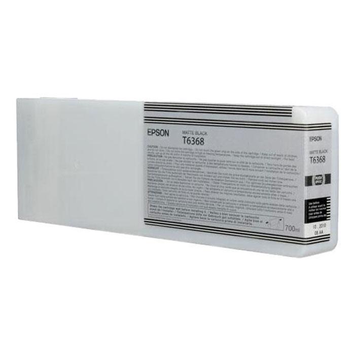 Epson T6368 (C13T636800), Matte Black картридж для Stylus Pro 7900/9900C13T636800Картридж Epson T6368 для Stylus Pro 7900/9900 с черными чернилами предназначен для печати на матовых носителях. Он служит для печати превосходных фотоснимков и рассчитан на 700 мл.