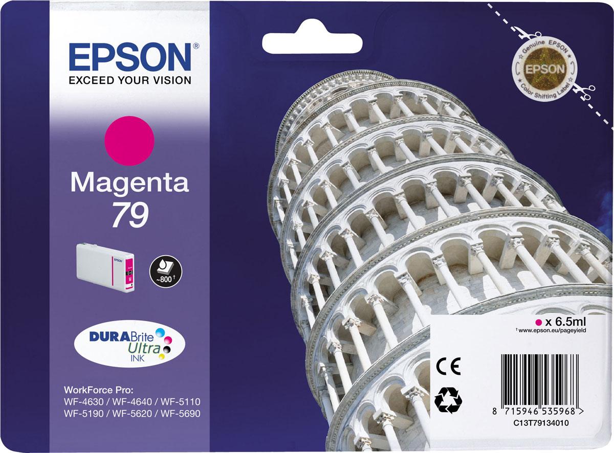 Epson T7913 (C13T79134010), Magenta картридж для WorkForce Pro WF-5xxxC13T79134010Картридж Epson T7913 с пурпурными чернилами для Epson WorkForce Pro служит для печати превосходных фотоснимков и рассчитан на 900 страниц печати.