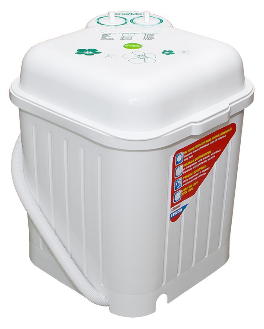 Славда WS-35E стиральная машина4650000914638Новая серия Энергия Более мощный двигатель Эксклюзивная форма активатора максимально эффективно распределяет потоки воды Новый дизайн Класс энергоэффективности: А+ Загрузка сухого белья в бак до 3.5 кг Потребляемая мощность: 245 Вт Таймер стирки до 15мин Пластиковый корпус из полипропилена: прочный, не желтеет Крышка-тазик емкостью 9л Три режима работы Реверс Фильтр для сбора ворса и пуха Намотка шнура Два равнозначных положения сливного шланга на корпусе Новый эффективный активатор Масса НЕТТО:9,5 кг Масса БРУТТО: 10 кг Габариты (ширина/глубина/высота): 480х480х525мм Размеры упаковки: 500x500x550мм Сделано в России