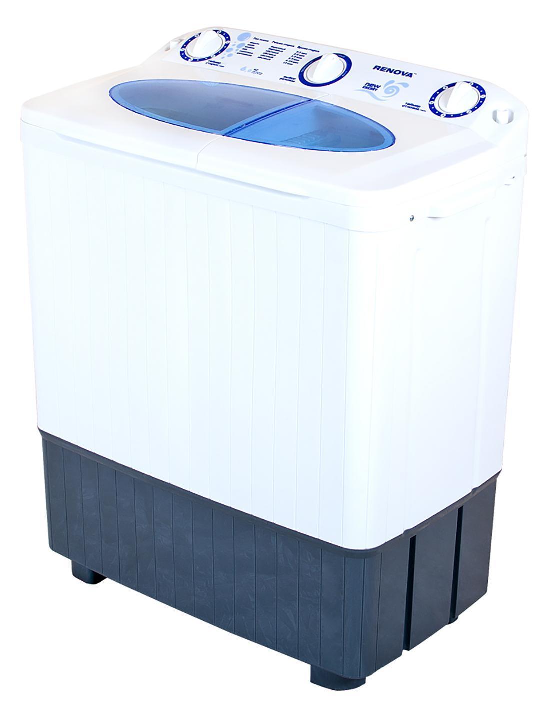 Renova WS-60PET стиральная машина4650000914560Новая серия New Energy Новый, более мощный двигатель, повышающий эффективность стирки Эксклюзивная форма активатора, направленно распределяет потоки воды, улучшая качество стирки Два бака (стирка, отжим) Загрузка сухого белья в бак стирки до 6.0 кг Загрузка белья при отжиме до 4,5 кг Отжим 1350 об/мин Максимальная потребляемая мощность: 500 Вт Таймер Сливной насос Безопасная система отжима Пластиковый корпус, не подверженный коррозии Новый современный дизайн Габариты (ширина/глубина/высота): 715х405х860мм Размеры упаковки: 720х420х880мм Масса НЕТТО: 17,8кг Класс энергоэффективности А+ Сделано в России