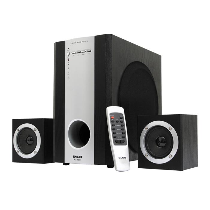 Sven MS-1060R, Black акустическая система 2.1 с сабвуфером ( SV-01301060RBK )