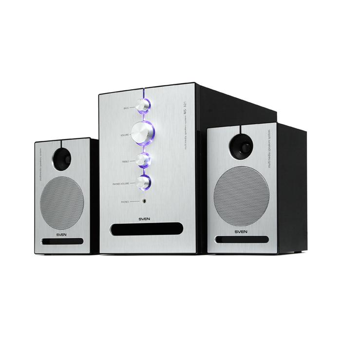 Sven MS-321, Black акустическая система 2.1 с сабвуфером ( SV-0130321BK )