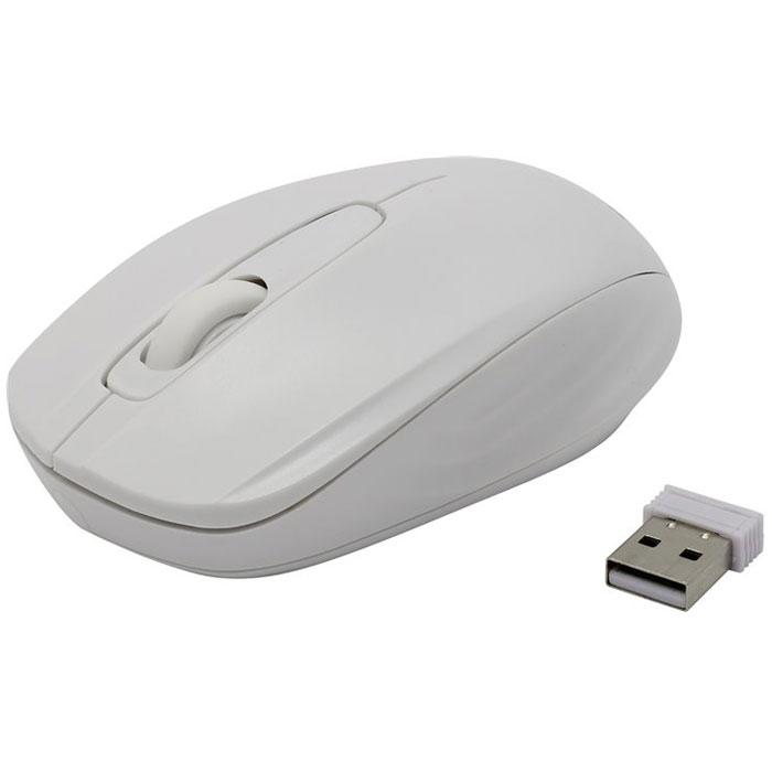 SmartBuy SBM-331, White мышьSBM-331AG-WСтильная и удобная беспроводная мышь SmartBuy SBM-331 непременно подойдет любому пользователю ПК. Оптическая светодиодная мышка работает с использованием технологии цифрового радиосигнала, не используя проводов и требует только наличия USB-порта. Устройство может работать практически на любой поверхности. Оптический сенсор обеспечивает максимально точное позиционирование курсора. Благодаря симметричной форме эта мышка подходит как правшам, так и левшам.