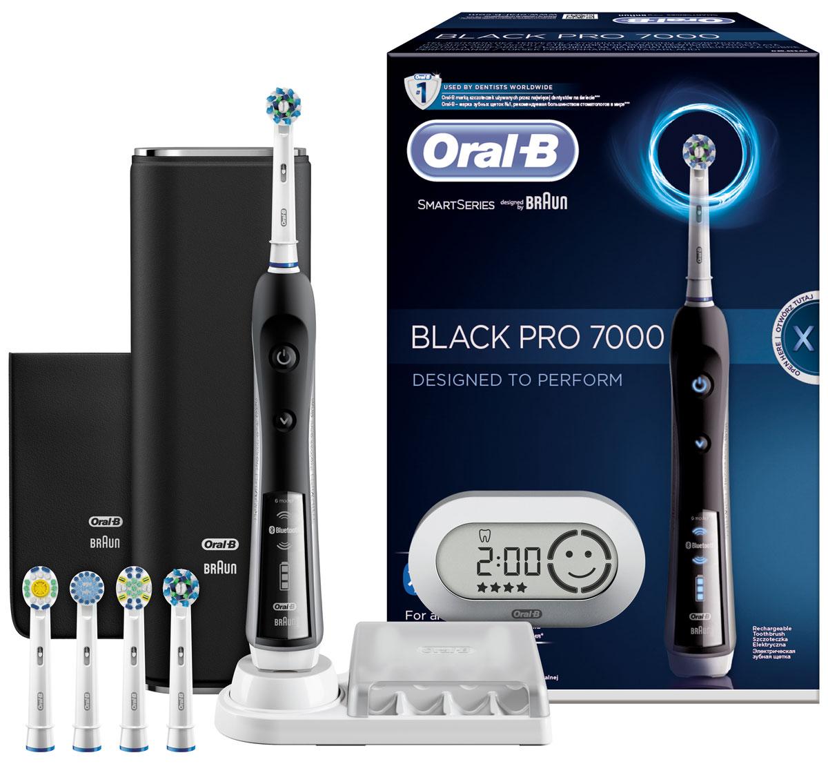 Oral-B Black 7000 CrossAction Smart Series электрическая зубная щетка с Bluetooth