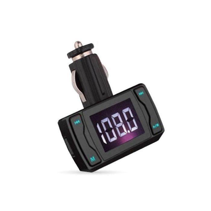 AVS F-514, Black MP3-плеер + FM-трансмиттер с дисплеем и пультомA80737SAVS F-514 работает с любым USB, SD, HD накопителями, а также с плеерами MP3, CD, PMP, DVD, PDA. Устройство также совместимо с любой автомобильной аудиосистемой с FM-радио. FM-трансмиттер передаёт сигналы вашего плеера (либо запись с карты памяти) в радиодиапазоне FM, обеспечивая удобное прослушивание удобной музыки через FM-тюнер аудиосистемы автомобиля, не используя наушники. Диапазон частот: 20 - 15000 Гц Максимальный объем карты памяти: 32 ГБ Радиус действия: 10 м Поддержка файлов: MP3, WMA