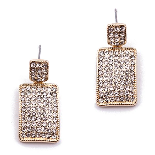 Серьги Selena Street Fashion, цвет: золотистый. 2007588020075880Изящные серьги Selena из коллекции Street Fashion выполнены из металлического сплава с золотистым покрытием. Изделия оформлены кристаллами Preciosa. Серьги застегиваются на замок-гвоздик с пластиковыми заглушками. Такие серьги позволят создать собственный, неповторимый образ.
