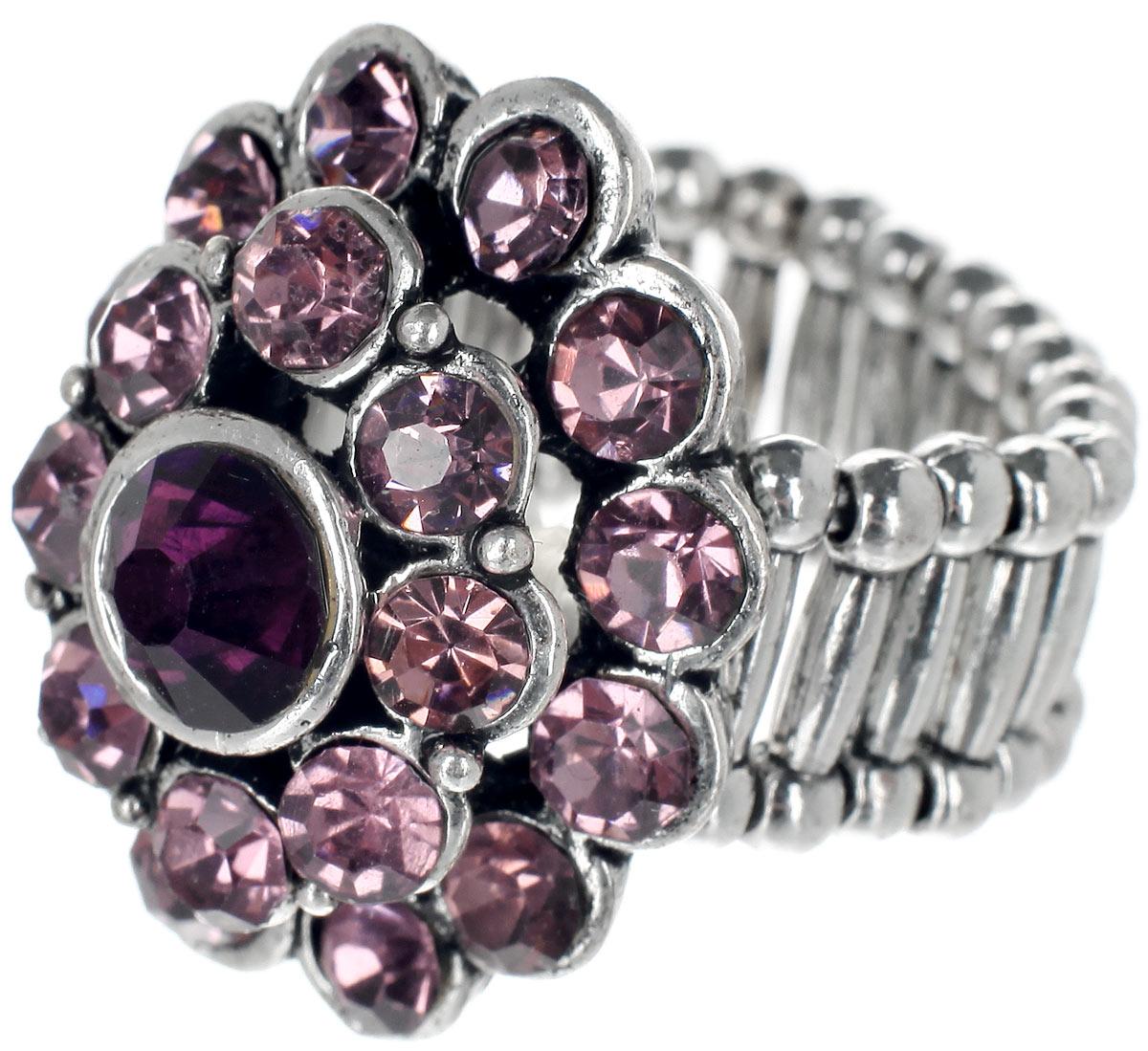 Кольцо Taya, цвет: розовый, серебристый. T-B-7324T-B-7324-RING-PINKСтильное кольцо Taya выполнено из металлического сплава на основе латуни и дополнено стразами. Элементы кольца соединены между собой при помощи тонкой резинки, благодаря которой изделие имеет универсальный размер. Его легко снимать и надевать. Такое кольцо внесет изюминку в любой образ и подчеркнет индивидуальность.