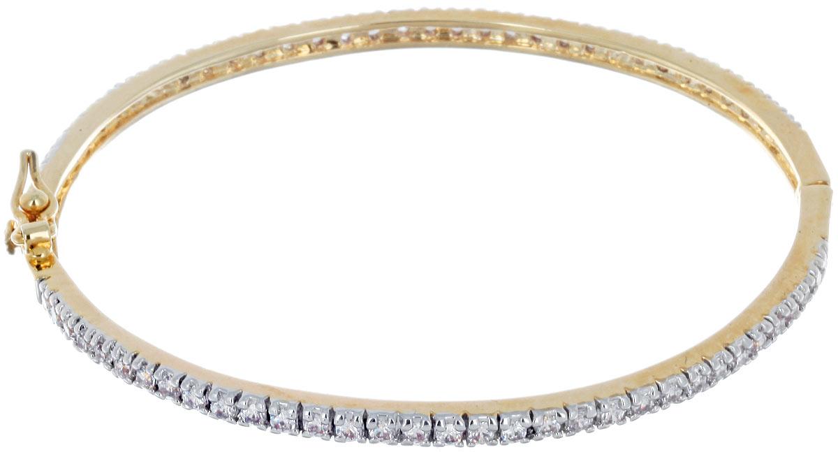 Браслет Taya, цвет: золотистый. T-B-3952T-B-3952-BRACELET-GOLDИзящный тонкий браслет Taya выполнен из металлического сплава с гальваническим покрытием на основе латуни и дополнен россыпью прозрачных цирконов. Застегивается браслет на защелку и дополнительно на металлическую петельку. За счет удобной застежки и качественного исполнения, браслет полюбится любой леди и станет ежедневным любимым аксессуаром.