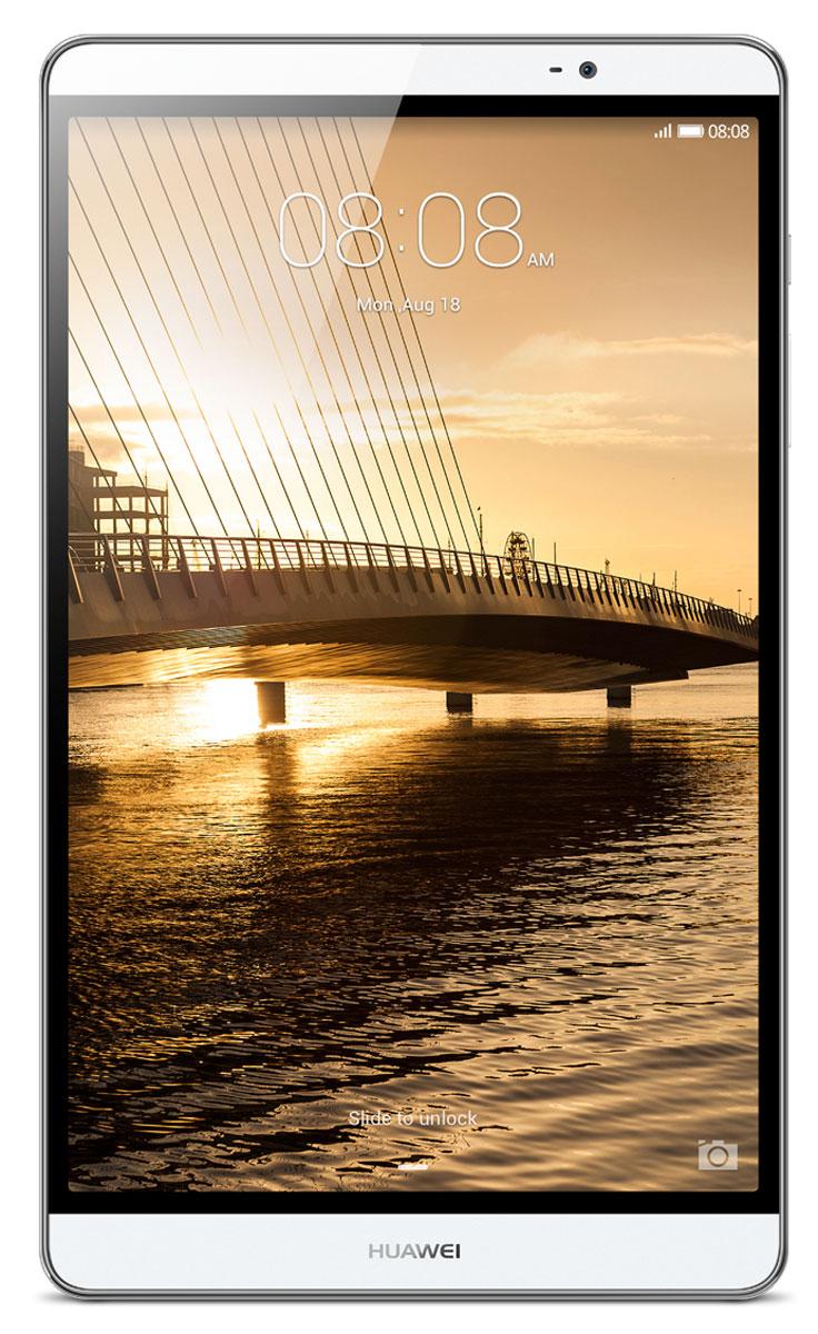 Huawei MediaPad M2 8.0 LTE (16GB), Silver53015038Чистые линии и сглаженные края алюминиевого корпуса нового планшетного ПК Huawei MediaPad M2 8.0 LTE выделяют его из ряда планшетов этого класса. Толщина планшета всего 7,8 мм! Стильный, эргономичный дизайн вашего планшета с тонкой рамкой обязательно обратит на себя внимание. Суперчеткий экран (разрешение 1920 х 1200) и кристально чистое стереозвучание, обеспечиваемое двумя динамиками и технологией DTS, подарят вам незабываемые ощущения при просмотре видео или прослушивании музыки. Высокая производительность и длительное время работы без подзарядки достигаются благодаря 8-ядерному процессору и батарее 4800 мАч. Huawei MediaPad M2 8.0 LTE – превосходное устройство для по-настоящему бескомпромиссных пользователей. Планшетный ПК Huawei MediaPad M2 8.0 LTE совместим с умными часами Huawei Talk Band, первым в мире устройством, объединяющим в себе функции Bluetooth-гарнитуры и умных часов.Talk Band поддерживает до 7 часов разговора (в режиме голосовых...