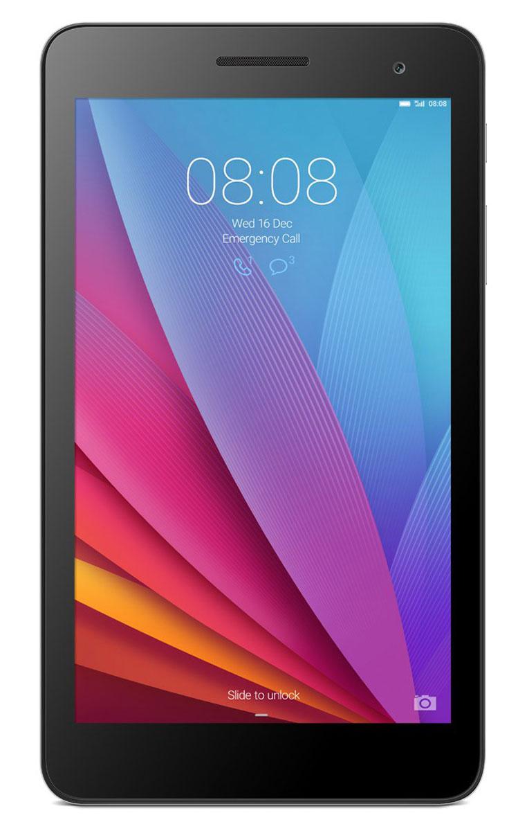 Huawei MediaPad T1 7 3G, Silver53015055Huawei MediaPad T1 7 3G можно использовать как смартфон и как планшет. Благодаря универсальным габаритам, планшетом легко управлять одной рукой. В компактном корпусе собраны самые необходимые функции: голосовые вызовы, SMS-сообщения, проигрывание видео, игры и удобный поиск в Интернете. Корпус MediaPad T1 7 3G создан из сплава алюминия и магния, что делает его прочным и лёгким. Закругленные края обеспечивают удобство использования, а цветовое решение подчёркивает элегантность линий. Универсальный размер экрана 7 прост и удобен в использовании: благодаря тонкому корпусу 8,5 мм и весу всего 278 г его легко носить в кармане или сумке. IPS экран планшета MediaPad T1 7 3G отображает весь спектр цветов Adobe RGB и гарантирует яркое, контрастное изображение. Huawei MediaPad T1 7 3G гарантирует высокое качество связи и стабильное соединение, где бы вы ни находились. Скорость загрузки файлов до 21 Мбит/с. Операционная система Android 4.4 и собственная...