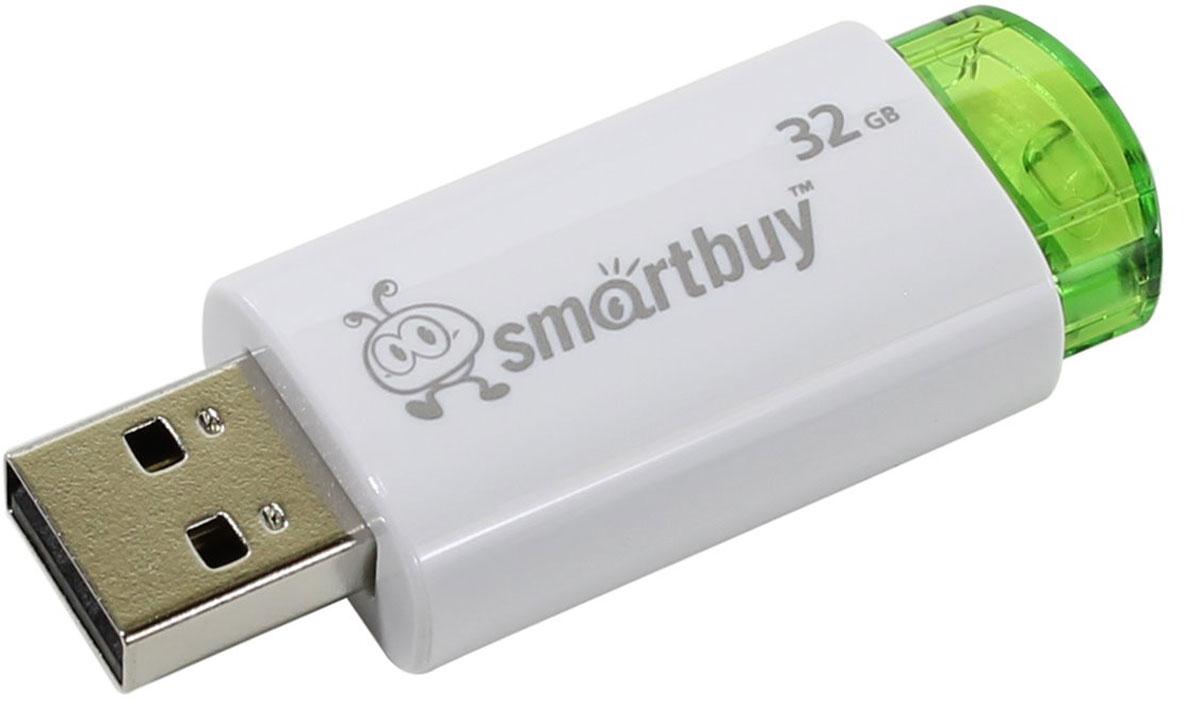 SmartBuy Click 32GB, Green USB-накопительSB32GBCL-GНакопитель Smartbuy Click может похвастаться ярким дизайном благодаря инновационному выдвижному USB- коннектору. Click имеет отполированную и приятную на ощупь поверхность.
