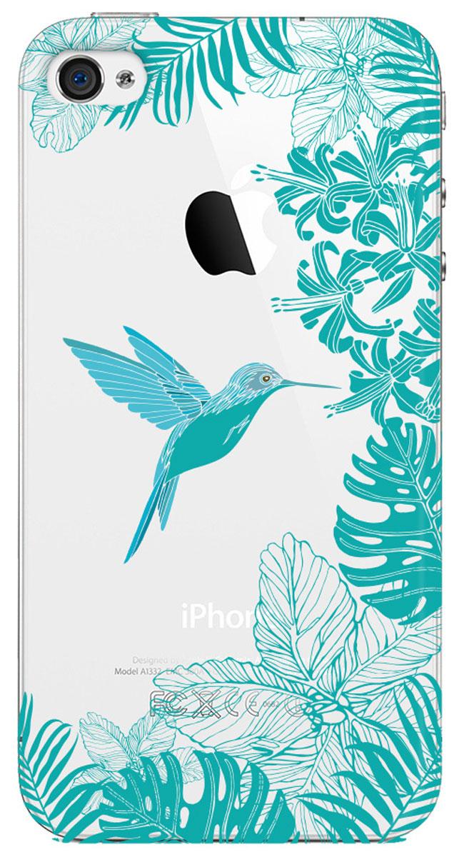 Deppa Art Case чехол для Apple iPhone 4/4s, Jungle (колибри)100145Чехол Deppa Art Case для Apple iPhone 4/4s предназначен для защиты корпуса смартфона от механических повреждений и царапин в процессе эксплуатации. Имеется свободный доступ ко всем разъемам и кнопкам устройства. Чехол изготовлен из поликарбоната толщиной 1 мм и оформлен ярким принтом с изображением колибри. В комплект также входит защитная пленка из трехслойного японского материала PET.