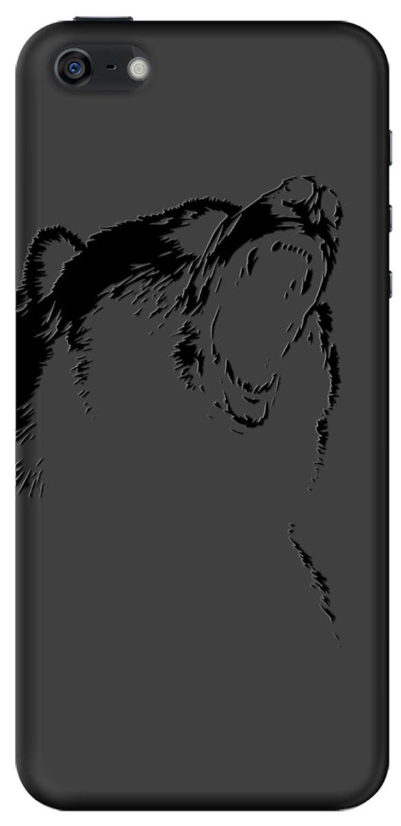 Deppa Art Case чехол для Apple iPhone 5/5s, Black (медведь)100252Чехол Deppa Art Case для Apple iPhone 5/5s предназначен для защиты корпуса смартфона от механических повреждений и царапин в процессе эксплуатации. Имеется свободный доступ ко всем разъемам и кнопкам устройства. Чехол изготовлен из поликарбоната толщиной 1 мм и оформлен принтом с изображением медведя. В комплект также входит защитная пленка из трехслойного японского материала PET.