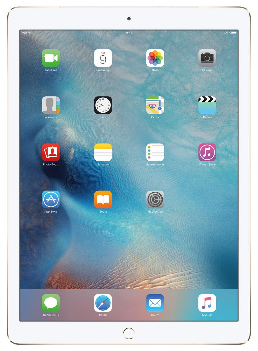 Apple iPad Pro Wi-Fi + Cellular 128GB, GoldML2K2RU/AС Apple iPad Pro мир ваших увлечений станет ещё обширнее. Он оснащён потрясающим 12,9-дюймовым дисплеем Retina и улучшенной технологией Multi-Touch, а его производительность почти в два раза превосходит iPad Air 2. Новый iPad Pro не просто больше — с ним вы получите возможность работать и творить в совершенно иных масштабах. Дисплей Retina с диагональю 12,9 на iPad Pro — самый совершенный из всех. Он на 78% больше, чем у iPad Air 2, а под его стеклом уместились обновлённая подсистема Multi-Touch и самое высокое разрешение среди всех устройств iOS — 5,6 миллиона пикселей. Его потрясающая чёткость и впечатляющие цвета, включая насыщенный чёрный, делают любое занятие, от обработки фотографий до игр со сложной графикой, невероятно увлекательным. В корпус данной модели встроено четыре передовых динамика, которые обеспечивают живой и объёмный звук. И впервые отсеки для них вырезаны прямо в корпусе unibody. Благодаря новой архитектуре динамики получили ...