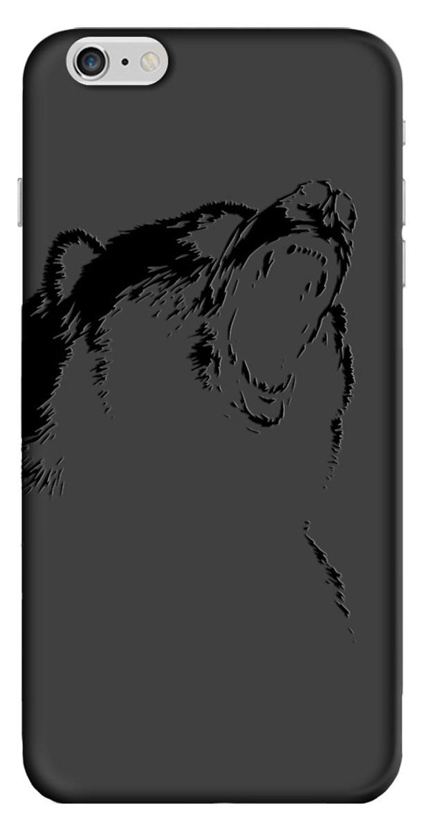 Deppa Art Case чехол для Apple iPhone 6 Plus/6s Plus, Black (медведь)100260Чехол Deppa Art Case для Apple iPhone 6 Plus/6s Plus предназначен для защиты корпуса смартфона от механических повреждений и царапин в процессе эксплуатации. Имеется свободный доступ ко всем разъемам и кнопкам устройства. Чехол изготовлен из поликарбоната толщиной 1 мм и оформлен принтом с изображением медведя. В комплект также входит защитная пленка из трехслойного японского материала PET.