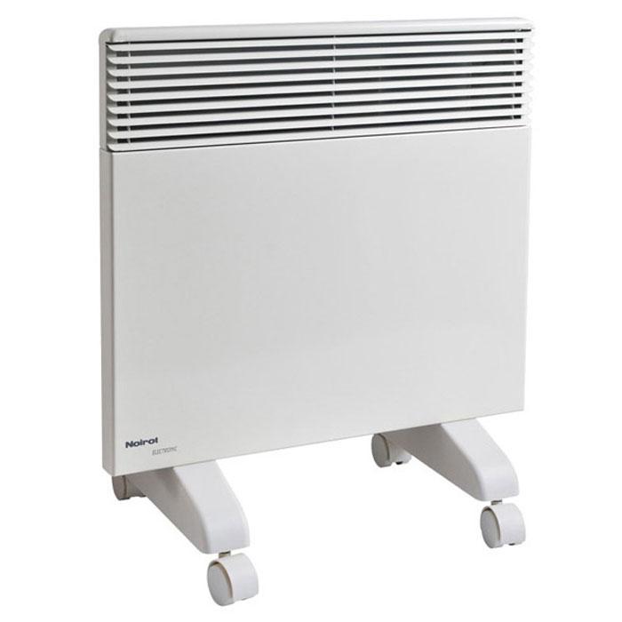 Noirot Spot E-3 1500 электрический обогреватель29.7358.5.ARERNoirot Spot E3 1500 - это электрический обогреватель конвективного типа. Вся конструкция прибора направлена на равномерное распределение тепла для обогрева с максимальным комфортом. Устройство работает по принципу естественной конвекции. Холодный воздух, проходя через конвектор и его нагревательный элемент, нагревается и выходит сквозь решетки-жалюзи, незамедлительно начиная обогревать помещение. Электрический обогреватель - это шаг к экономии, независимости и комфорту. Высокотехнологичный прибор будет надежным источником тепла везде, где найдется немного свободного места на стене или, при установке устройства на специальные ножки, на полу. Конвектор обеспечит необходимым теплом во время холодной зимы или прохладным летним вечером. Это идеальный вариант для дополнительного обогрева помещения в период межсезонья. Прибор оснащен электронным цифровым термостатом ASIC, который поддерживает температуру с точностью до 0,1°С. Высокая точность поддержания...