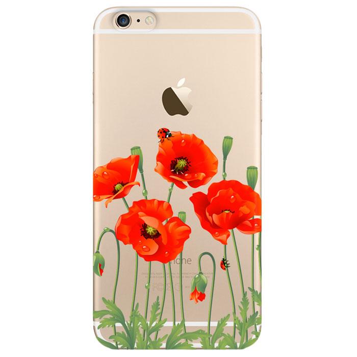 Deppa Art Case чехол для Apple iPhone 6 Plus/6s Plus, Flowers (мак)100106Чехол Deppa Art Case для Apple iPhone 6 Plus/6s Plus предназначен для защиты корпуса смартфона от механических повреждений и царапин в процессе эксплуатации. Имеется свободный доступ ко всем разъемам и кнопкам устройства. Чехол изготовлен из поликарбоната толщиной 0,7 мм и оформлен принтом с изображением цветков мака. В комплект также входит защитная пленка из трехслойного японского материала PET.