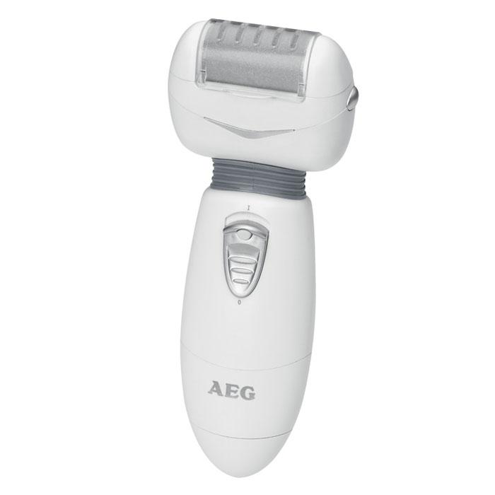 AEG PHE 5670, White Grey электропемзаPHE 5670 weis-grauAEG PHE 5670 - это настоящая находка для тех, кто желает получить отличный результат, затратив при этом минимум средств и времени. Данная модель обеспечивает быстрое и безопасное удаление мозолей и натоптышей. Для этого вам даже не придется предварительно распаривать кожу ног. После использования этого прибора ваши ноги будут выглядеть так, как будто вы только что посетили профессиональный салон красоты. В комплекте к электропемзе идут два сменных ролика разной степени шероховатости и щеточка для чистки. Прибор работает от двух батареек 1,5 В типа UM3/AA/LR6 (не входят в комплект поставки). Он легко разбирается для мытья и чистки. Электропемза имеет защиту от брызг стандарта IPX4. Эргономичная ручка Скорость вращения: 45 об/сек