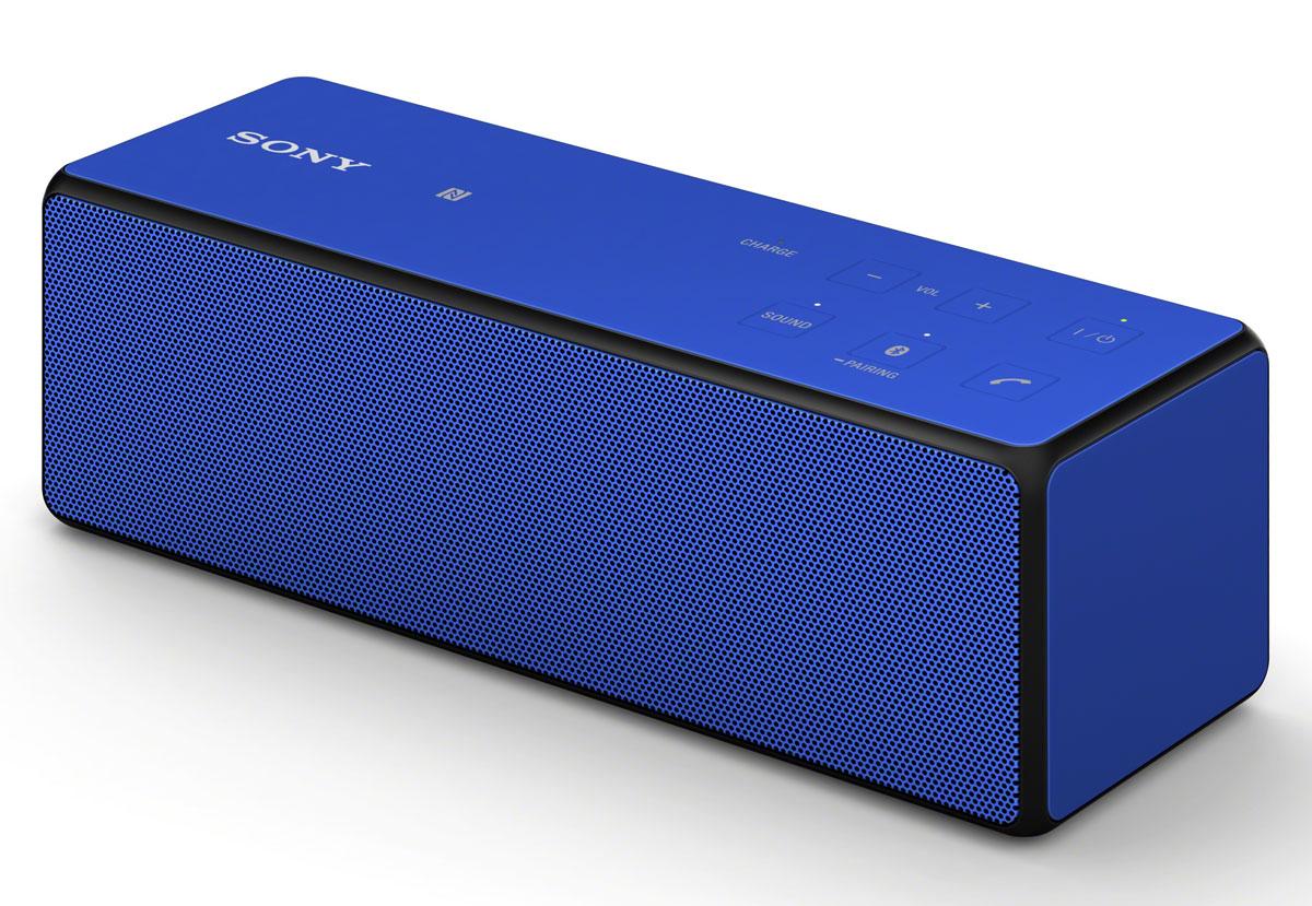 Sony SRS-X33, Blue портативная акустическая системаSRSX33L.RU4Портативная беспроводная колонка Sony SRS-X33 помещается где угодно. Мощные басы 60 Гц и двойные пассивные излучатели заполняют все помещение звуком. Быстрое подключение благодаря потоковой передаче музыки по Bluetooth и NFC. Цифровой усилитель S-Master обеспечивает чистое звучание музыки, независимо от источника сигнала - со смартфона, компьютера или портативного аудиоплеера. Почувствуйте насыщенные басы аудиосистемы SRS-X33. Двойные пассивные излучатели усиливают низкие ноты, воспроизводимые двумя широкодиапазонными динамиками, обеспечивая мощное звучание. Усилитель S-Master от Sony работает только с цифровым преобразованием данных, обеспечивая высокую детализацию звука без искажений. В результате мы имеем звук, который максимально приближен к исходному студийному звучанию. Технология ClearAudio+ стала кульминацией многолетних исследований, объединив в себе несколько наиболее передовых технологий нашей компании по обработке звука. Функция DSEE...