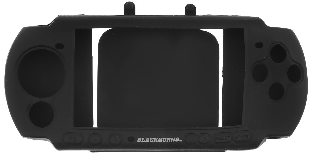 Black Horns Kit 3 in 1 набор аксессуаров для Sony PSP 3000, BlackBH-PSP02611H(R)_черныйНабор аксессуаров Black Horns Kit 3 in 1 разработан специально для Sony PSP 3000. Чехол надежно защитит вашу консоль PSP 3000 не только во время переноски, но и при использовании, надежно держится в руках и не скользит. Он также обеспечивает свободный доступ ко всем клавишам и кнопкам управления. Удобный ремешок на руку убережет устройство от падений, а очищающая подушечка очистит экран вашей портативной игровой приставки. В комплект также входит защитная пленка на экран, которая защищает его от царапин и потертостей. Для удобного наклеивания аксессуара предназначена очищающая салфетка и пластинка, позволяющая приклеить пленку без пузырей.