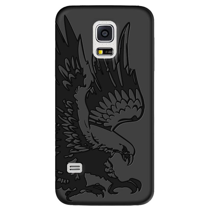 Deppa Art Case чехол для Samsung Galaxy S5 mini, Black (коршун)100269Чехол Deppa Art Case для Samsung Galaxy S5 mini предназначен для защиты корпуса смартфона от механических повреждений и царапин в процессе эксплуатации. Имеется свободный доступ ко всем разъемам и кнопкам устройства. Чехол изготовлен из поликарбоната толщиной 1 мм и оформлен принтом с изображением коршуна. В комплект также входит защитная пленка из трехслойного японского материала PET.