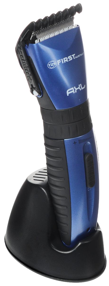First FA-5676-1, Black набор для стрижкиFA-5676-1 BlueFirst FA-5676-1 - компактная и легкая машинка для стрижки со встроенным аккумулятором и лезвиями из нержавеющей стали. Для разной длины волос предусмотрены 2 насадки. Прибор имеет презиционную стригущую головку, а также индикатор заряда аккумулятора. Эргономичная форма корпуса и комплект аксессуаров обеспечат ощутимый комфорт при использовании машинки.