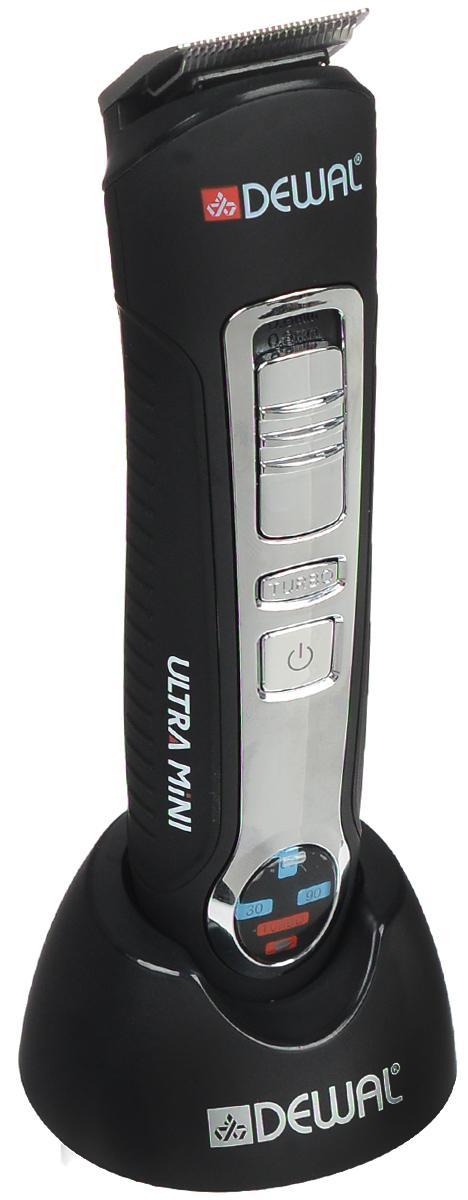 Dewal 03-012 машинка для стрижки03-012Dewal 03-012 - это современная стильная машинка для выполнения окантовки, с питанием от аккумулятора, ножами из нержавеющей стали и 4 насадками в комплекте, регулирующими длину стрижки. Машинка оснащена съемным ножевым блоком шириной 28 мм с лезвиями из нержавеющей стали. Она работает от аккумулятора и для зарядки устанавливается на подставку. Время автономной работы составляет 90 минут, а время зарядки - около 5 часов.