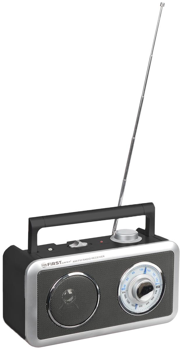 First FA-1905, Black радиоприемникFA-1905 BlackFirst FA-1905 - компактный недорогой радиоприемник с поддержкой диапазонов AM и FM. Приемник обладает удобной ручкой для переноски и телескопической антенной. Для дополнительных аудио-устройств имеются линейный аудиовход и разъем для подключения наушников. Питание осуществляется как от сети, так и от 3 батареек типа UM1 (не входят в комплект). Выходная мощность: 0,75 Вт Сопротивление: 8 Ом