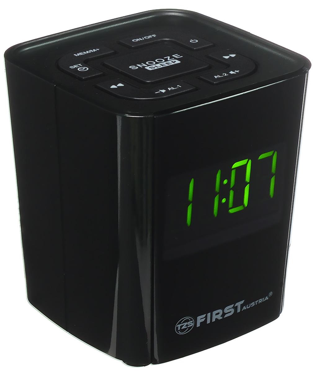 First FA-2406-2, Black радиочасыFA-2406-2 BlackFirst FA-2406-2 - компактные радиочасы с LED-дисплеем, диагональ которого 0,7. Устройство имеет кварцевый стабилизатор, а также различные дополнительные функции: двойной будильник, регулировка громкости, пробуждение под музыку. Вы также можете активировать отложенный сигнал чтобы поспать еще немного времени. Будильник отключится и прозвенит через 9 минут. Резервное питание: 1 батарейка CR2032 (в комплект не входит)