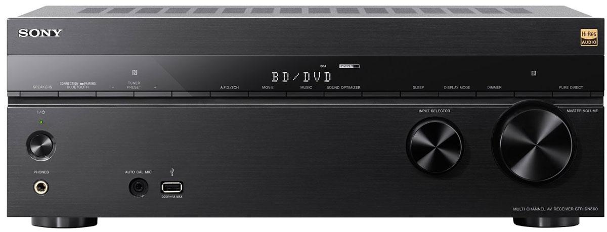 Sony STR-DN860 AV-ресивер для домашнего кинотеатраSTRDN860.CEL7.2-канальный AV-ресивер Sony STR-DN860 предназначен для домашнего кинотеатра с мультирум-системой. Перейдите на новый уровень домашних развлечений! Вы можете быть полностью увлечены просмотром голливудского блокбастера или захвачены прослушиванием любимой музыки в невероятном качестве форматах аудио высокого разрешения — во всем вы сможете оценить мощь и качество. Ощутите себя в помещении, наполненном объемным звучанием 7 аудиоканалов и 2 сабвуферов с выходной мощностью 165 Вт RMS на канал. Превосходное качество изображение и детализация достригается благодаря поддержке 4K-видео и технологии повышения разрешения в сочетании с 6 входами и 2 выходами HDMI для подключения дополнительного аудио- и видеооборудования. Передавайте музыкальные и видеофайлы на ваш ресивер с помощью технологии NFC One-touch, по Bluetooth и Wi-Fi или подключите устройство USB для воспроизведения музыки. Поддержка ресивером Sony STR-DN860 стандарта HDCP 2.2 для потоковых сервисов в 4K...