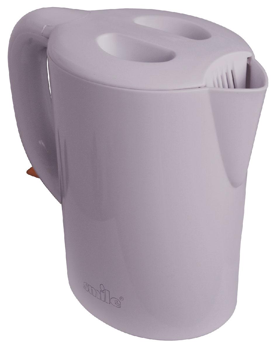 Smile WK 5105 электрочайникWK 5105Стильный электрический чайник Smile WK 5105 украсит и семейное чаепитие, и большое торжественное застолье. Этот чайник с классическим дизайном прекрасно впишется в интерьер вашей кухни. Индикатор уровня воды покажет вам точный объем жидкости, который находится внутри чайника и точку максимального объема. Питание: 220В / 50Гц