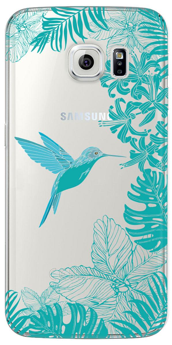 Deppa Art Case чехол для Samsung Galaxy S6 edge, Jungle (колибри)100173Чехол Deppa Art Case для Samsung Galaxy S6 edge предназначен для защиты корпуса смартфона от механических повреждений и царапин в процессе эксплуатации. Имеется свободный доступ ко всем разъемам и кнопкам устройства. Чехол изготовлен из поликарбоната толщиной 1 мм и оформлен ярким принтом с изображением колибри. В комплект также входит защитная пленка из трехслойного японского материала PET.