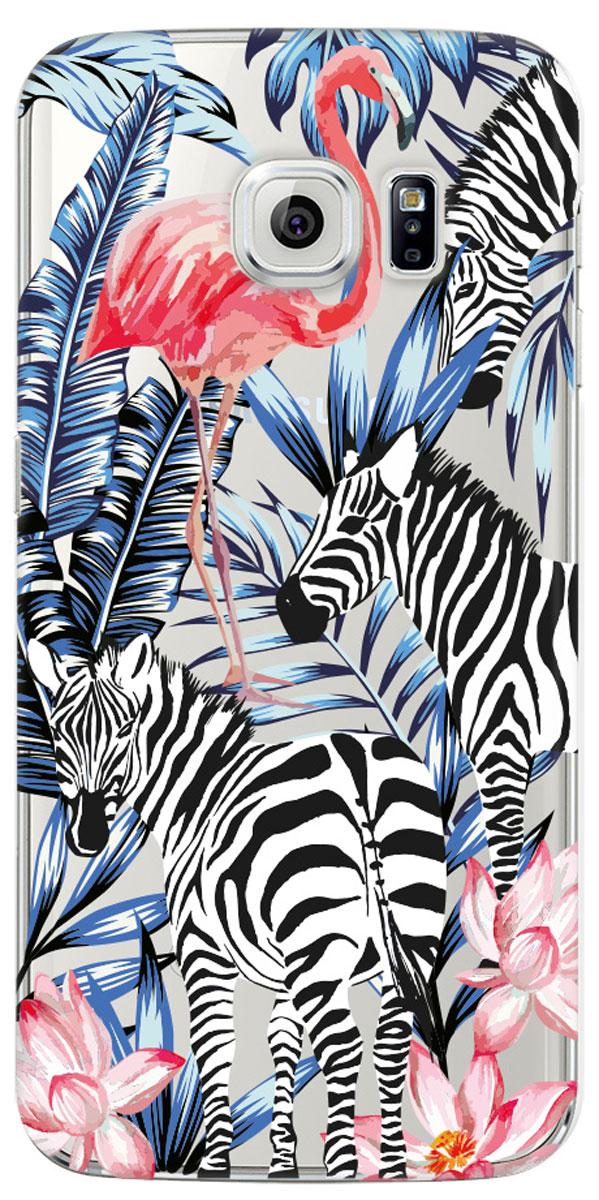 Deppa Art Case чехол для Samsung Galaxy S6 edge, Jungle (зебры)100175Чехол Deppa Art Case для Samsung Galaxy S6 edge предназначен для защиты корпуса смартфона от механических повреждений и царапин в процессе эксплуатации. Имеется свободный доступ ко всем разъемам и кнопкам устройства. Чехол изготовлен из поликарбоната толщиной 1 мм и оформлен ярким принтом с изображением зебр. В комплект также входит защитная пленка из трехслойного японского материала PET.