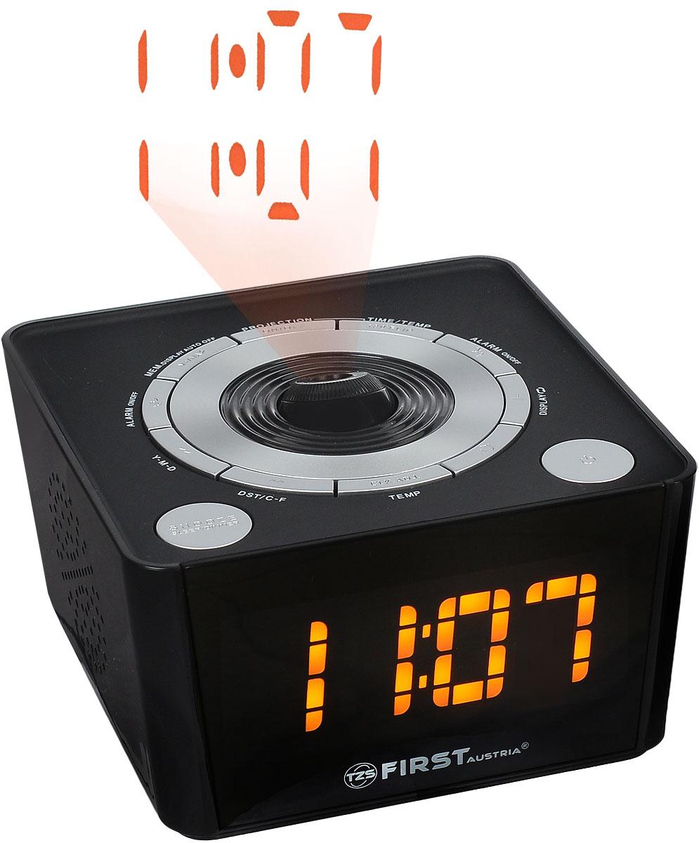 First FA-2421-5, Black радиочасы c проектором