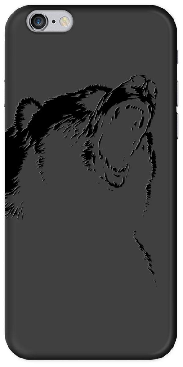 Deppa Art Case чехол для Apple iPhone 6/6s, Black (медведь)100256Чехол Deppa Art Case для Apple iPhone 6/6s предназначен для защиты корпуса смартфона от механических повреждений и царапин в процессе эксплуатации. Имеется свободный доступ ко всем разъемам и кнопкам устройства. Чехол изготовлен из поликарбоната толщиной 0,7 мм. В комплект также входит защитная пленка из трехслойного японского материала PET.
