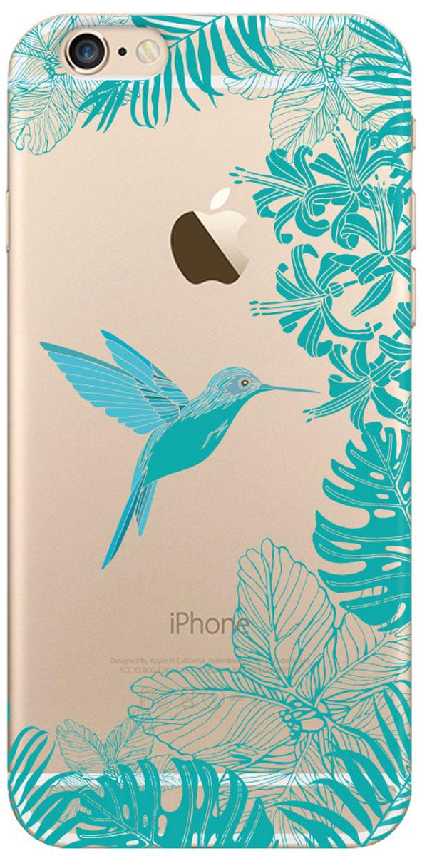 Deppa Art Case чехол для Apple iPhone 6/6s, Jungle (колибри)100153Чехол Deppa Art Case для Apple iPhone 6/6s предназначен для защиты корпуса смартфона от механических повреждений и царапин в процессе эксплуатации. Имеется свободный доступ ко всем разъемам и кнопкам устройства. Чехол изготовлен из поликарбоната толщиной 0,7 мм. В комплект также входит защитная пленка из трехслойного японского материала PET.