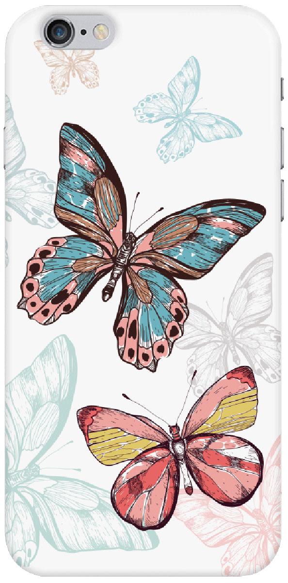 Deppa Art Case чехол для Apple iPhone 6/6s, Pastel (бабочки)100204Чехол Deppa Art Case для Apple iPhone 6/6s предназначен для защиты корпуса смартфона от механических повреждений и царапин в процессе эксплуатации. Имеется свободный доступ ко всем разъемам и кнопкам устройства. Чехол изготовлен из поликарбоната толщиной 0,7 мм. В комплект также входит защитная пленка из трехслойного японского материала PET.